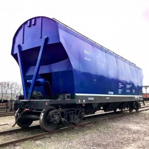 Укрзалізниця побудувала свій перший вагон-зерновоз Рис.1