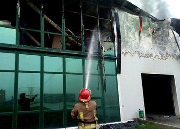 Одесою пожежа знищила велике підприємство по виробництву часнику Рис.1